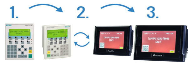 7″ Touch win HMI\'s & Industrial Touchscreen For Conversion of OP7 ...